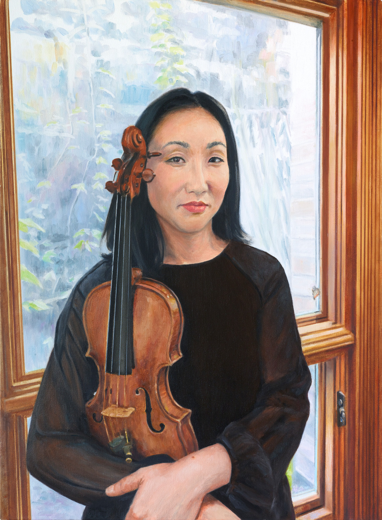 Elissa Lee, 2018, oil on linen, 30 x 24 inches