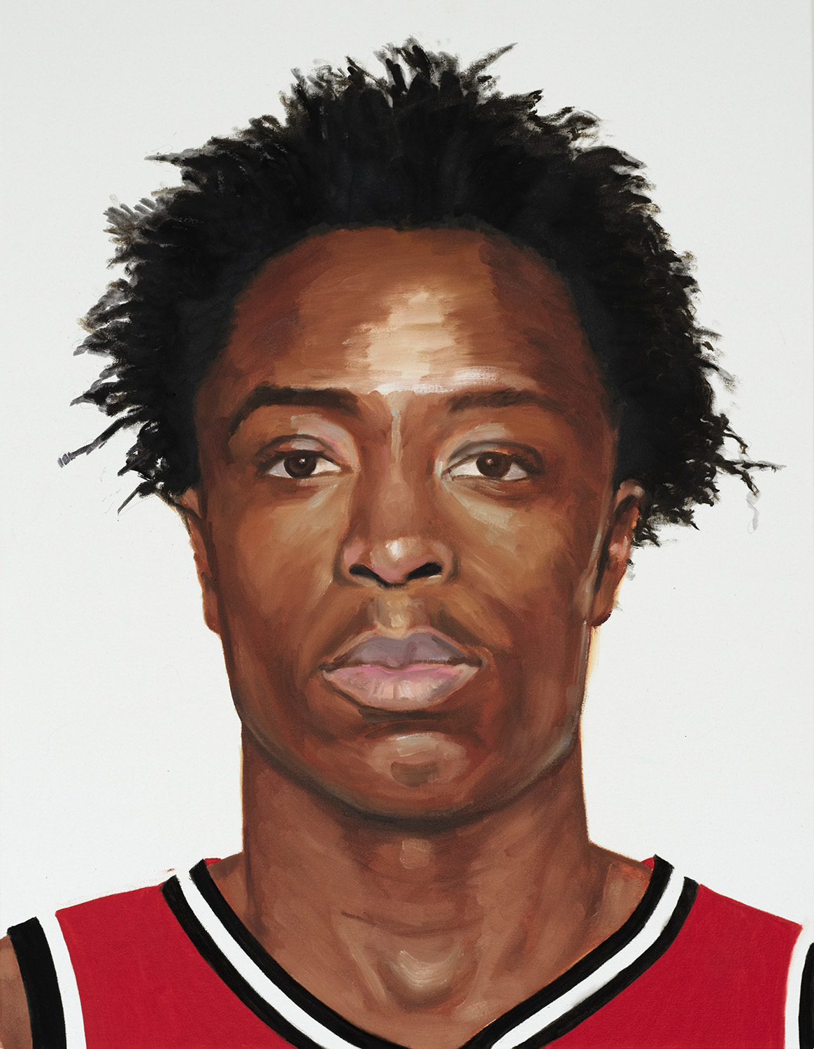 OG Anunoby (from the series Organizing Principle), 2019, oil on canvas, 26 x 20 inches